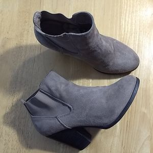 Call it Spring tan suede booties Size 8